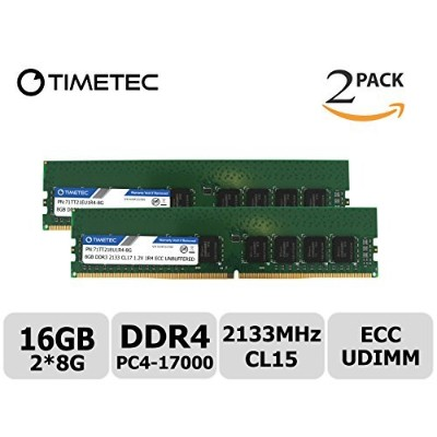 Timetec Hynix IC 8 GB ddr4 2133 MHz pc4 – 17000 Unbuffered ECC 1.2 V cl15 1rx4シングルランク288ピンUDIMMサーバーメ...
