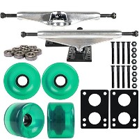 LongboardパッケージCore 6 In Silver Trucks 70 Mm Grnホイール