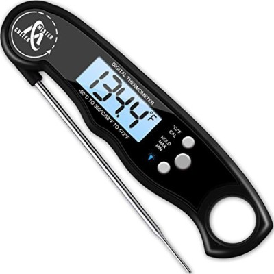 Instant Read Thermometer - Best Waterproof Digital Meat Thermometer with Backlight and Calibration...