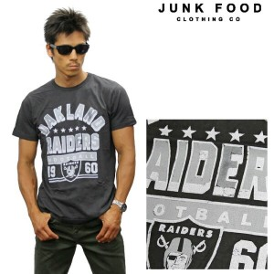 JUNKFOOD ジャンクフード 半袖Tシャツ 《NFL Collection》OAKLAND RAIDERS n7890-7730