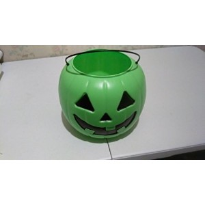 Halloween Pumpkin Jack O' Lantern Candy Bucket (Green) by General Foam Plastics