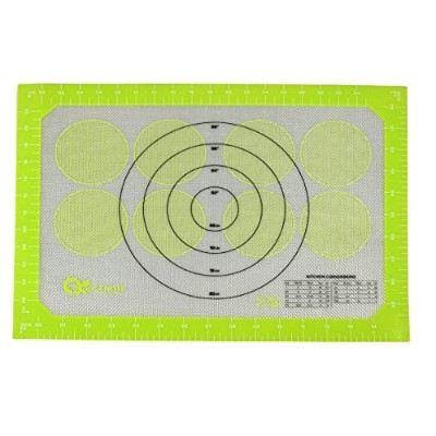 Professional Silicone Baking Mat–Pastry Mat with Measurements グリーン