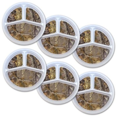 DII Real Treeメラミン朝食 Portion Plate/Realtree マルチカラー CRT32738