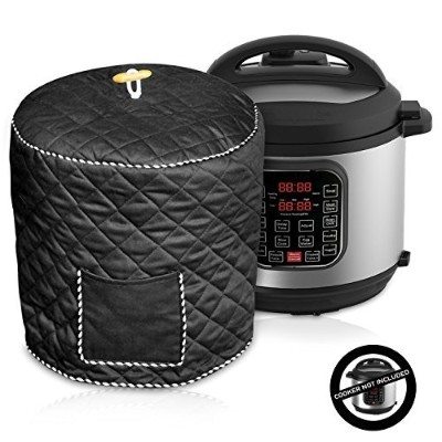 (Black) - Decorative Cover For Electric Pressure Cookers Has Pocket For Accessories - Fits 5.7l...