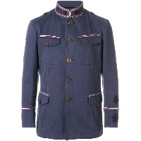 Ermanno Scervino pipe trim military jacket - ブルー