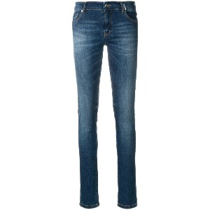 Versace Jeans faded stretch skinny jeans - ブルー