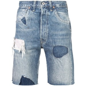 Levi's Vintage Clothing distressed style shorts - ブルー