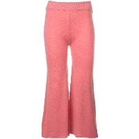 Ryan Roche cropped flared trousers - ピンク&パープル