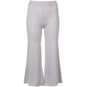Ryan Roche cropped flared trousers - グレー