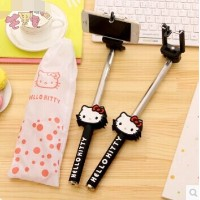 Self-rod hello kitty cute cartoon Self Self artifact Bluetooth remote control + kt portable bag