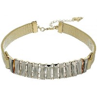 GUESS ゲス レディース 女性用 ジュエリー 宝飾品 ネックレス GUESS ゲス Baguette Stone Front Choker Necklace - Gold/Gold...