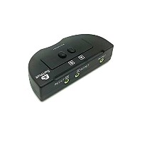 2 PORT 3.5mm STEREO Manual Switch Box Audio Speaker selector2ポート 3.5mm ステレオ マニュアル式 スイッチ ボックス AUX...