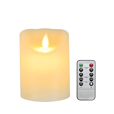Flameless Candle、dreamiracle LED Candle Light Mooncandle withリモート制御タイマークリスマスハロウィンRomantic休日装飾ライト...
