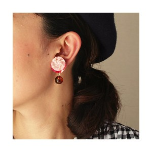 patterie  BUTTON SPANGLE PIERCE(PR17SS-AC-P001193-P) pink 【三越・伊勢丹/公式】 アクセサリー~~ピアス~~レディース ピアス