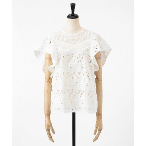 mame/マメ  Floral Cutwork Lace Tops(MM18SS-SH049) WHITE 【三越・伊勢丹/公式】 レディースウエア~~シャツ
