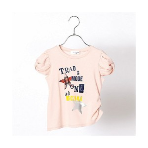 【SALE(三越)】 COMME CA FILLE/コムサ・フィユ  ★プリント女の子半袖Tシャツ(0526EA19) ピンク 【三越・伊勢丹/公式】 キッズファッション~~トップ