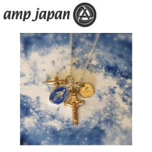 amp japan アンプジャパン ネックレス メダイユミラキュルーズミックスネックレス ブルーエポキシ Medaille Miraculeuse Mix Necklace Blue Epoxy...