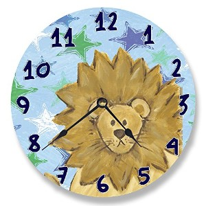 The Kids Room by Stupell Lion with Stars Wall Clock by The Kids Room by Stupell