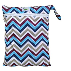 Sweet Pea Cloth Diaper Wet Bag - Chevron Purple by Sweet Pea