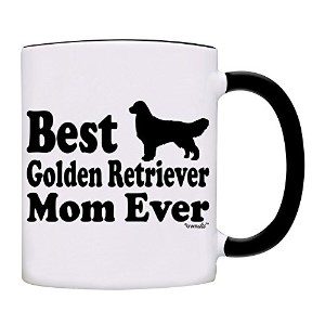 owndis Best Golden Retriever Mom Everコーヒーマグ 11オンス ブラック 0053-2