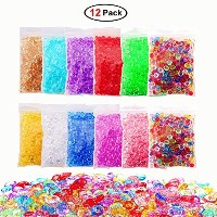 (12 Pack Fishbowl Beads Kit) - 12 Pack 500mls Fishbowl Beads for Crunchy Slime Making, Colourful...