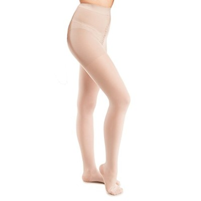 GABRIALLA Sheer Pantyhose, Compression (20-22 mmHg) Nude, Medium by GABRIALLA