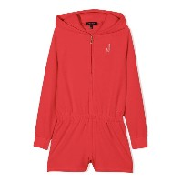 Juicy Couture Kids customisable velour romper - レッド
