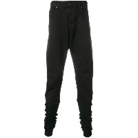 Diesel Black Gold dropped crotch long jeans - ブラック