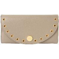 レディース SEE BY CHLOÉ kriss flat wallet with flap 財布  ドーブグレー