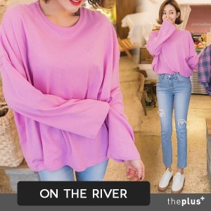 ★ontheriver★ Loose Fit / Plus size top / Korea fashion / T-shirts / Tee