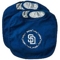 Baby Fanatic Team Color Bibs, SD Padres, 2-Count by Baby Fanatic