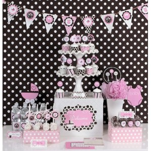 Pink Baby Shower Mod Party Kit by Eventblossom