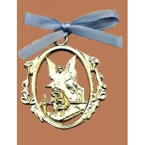 Guardian Angel Crib Medal by Cathedral Art [並行輸入品]