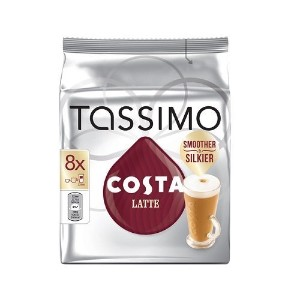TASSIMO Costa Latte 16 T DISCs (Extra Large Cup Size) 8 Servings
