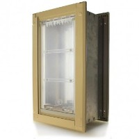 Endura Flap Large Wall Mount - Tan Double Flap 25.4cm x 45.7cm pet door