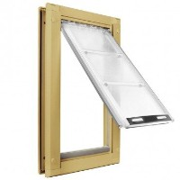 Endura Flap Small Door Mount - Tan Single Flap 15.2cm x 27.9cm pet door