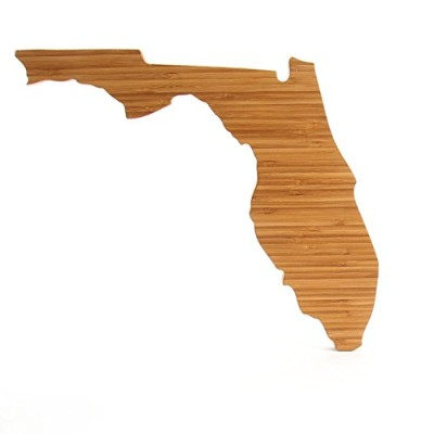 (Florida) - Cutting Board Company Florida Shaped Cutting Board, Bamboo Cheese Board