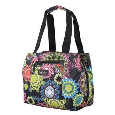 (Charming Black) - Nicole Miller of New York Insulated Lunch Cooler 11 Lunch Tote (Charming Black)