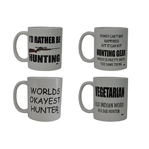 Funny HuntingコーヒーマグギフトセットガンBuckハンターノベルティCup Great Gift Idea For Friend Who Likes to Hunt