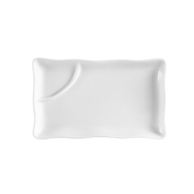 (Box of 12, 30cm by 19cm) - CAC China RCN-RT12 Clinton Rolled Edge 30cm by 19cm Porcelain Rectangula...