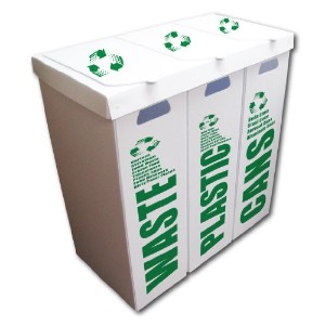 3- in - 1ごみ箱セット–Waste /プラスチック/ Cans–Large 36.5ガロン容量EA