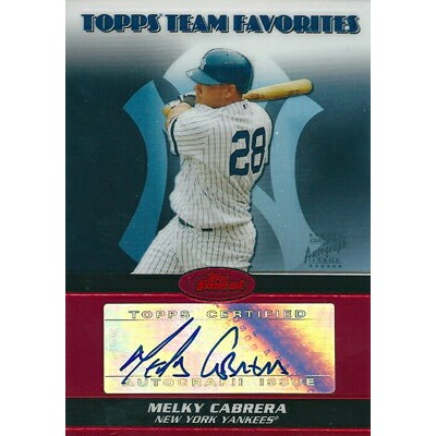 【メルキー カブレラ】 2008 Topps Finest Topps Team Favorites Autographs Refractors 25枚限定!(08/25)/ Melky...
