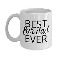 Best Dad Everファー、ファーBest Dad Mug for Tea orコーヒー、キュートファーDad Gift for犬または猫Lovers 11oz GB-1595628-20...