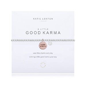 Katie Loxton–A Little Good Karma–withローズゴールドディスク–ブレスレット