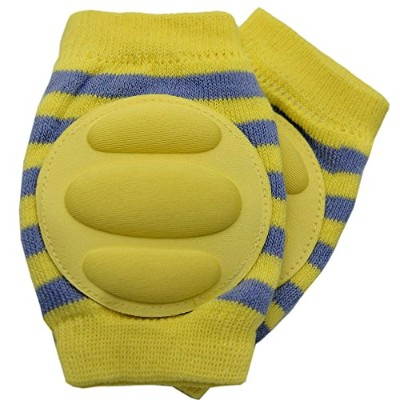 New Baby Crawling Knee Pad Toddler Elbow Pads 805518 Yellow-grey by YEAHINSHOP