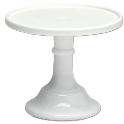 Milk White 15cm Glass Cake Stand - Made in the USA By Mosser Glass