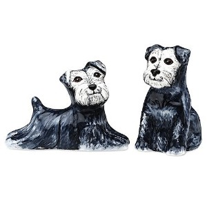 Rescue Me Now Schnauzer Dog Salt and Pepper Shaker Set by Pavilionギフト会社