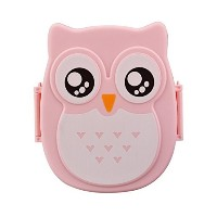 Creazy? Owl Lunch Box Food Container Storage Box Portable Bento Box (Pink) by Creazydog