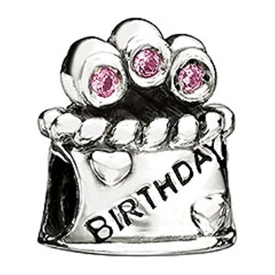 Chamilia Happy Birthday Bead with Pink CZ