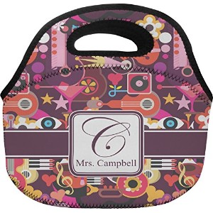 "抽象音楽ランチバッグ( Personalized ) Large (Approx. 12"" x 6"" x 11.5"") mi-lunch-tote-BAGC+205847"